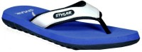 Stylar White And R. Blue Ronaldo Flip Flops