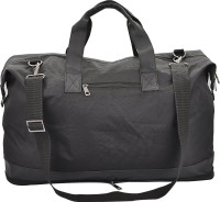 Crafts'man Folding (Premium Quality) Expandable Small Travel Bag - Medium (Black)