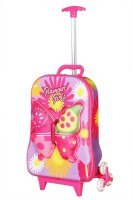 T-Bags 3D Butterfly Purple Trolley Small Travel Bag  - Small Purple, Purple-Pink