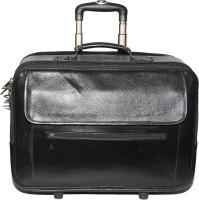 C Comfort Genuine Leather Expandable Small Travel Bag  - Medium Black