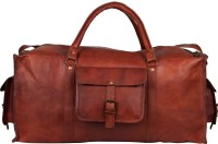 "Rustictown Men's Leather Duffle 22"" Small Travel Bag  - Medium - Brown"
