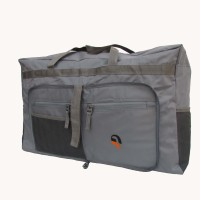 Goodtimes Foldable Expandable Small Travel Bag  - Medium Grey