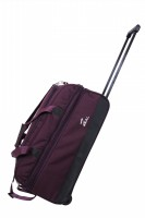 "Zeal Ex-24"" Duffle Trolley Expandable Small Travel Bag  - Medium - Purple"