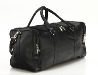 Mboss Faux Leather Unisex Black Single Small Travel Bag  - Medium Black