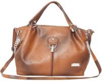 C Comfort Genuine Leather Small Travel Bag  - Medium Tan