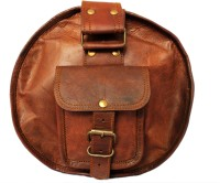 "Rustictown Round Leather Duffel 24"" Small Travel Bag  - Large - Brown"