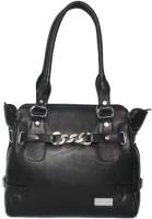 C Comfort Genuine Leather Small Travel Bag  - Medium Black