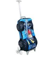 T-Bags 3D Racing Car Blue Kid's Trolley Bag Small Travel Bag  - Small Blue