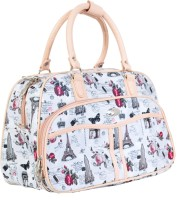 Knight Vogue Beautiful Printed Duffle Bag Small Travel Bag  - Medium White