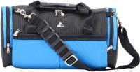 Clubb Roll Tote Small Travel Bag  - Small Black & Sky Blue