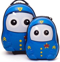 Inventure Retail Hardshell Cutie Bag For Kids Police Small Travel Bag  - Medium Blue