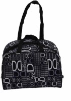 Kuber Industries Designer With Multiple Pockets Small Travel Bag  - Medium Black 01