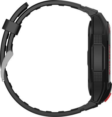 Alcatel Go Watch Black & Dark Red Smartwatch (Black Strap)