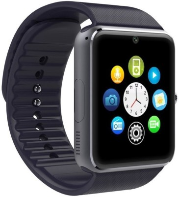 LIFE LIKE GT08 BLUETOOTH WITH SIM & SD CARD SUPPORT BLACK Smartwatch (Black Strap)