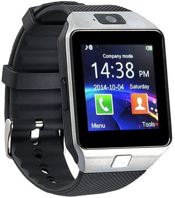 Mezire SIM card, 32GB memory card slot, Bluetooth and Fitness Tracker Smartwatch (Black Strap)
