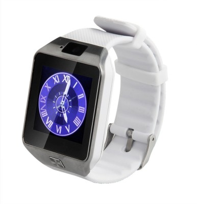 Oktata DZ09 Fitness watch with Sim White Smartwatch (White Strap)