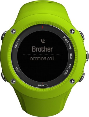 Suunto SS021260000 Ambit3 Run Digital Lime Smartwatch (Green Strap)