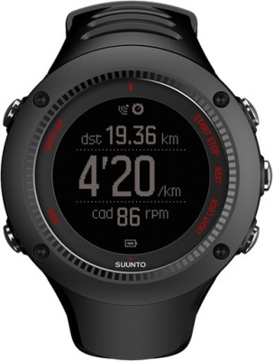 Suunto SS021257000 Ambit3 Run HR Digital Smartwatch (Black Strap)