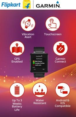 Garmin Vivoactive White Smartwatch (White Strap)
