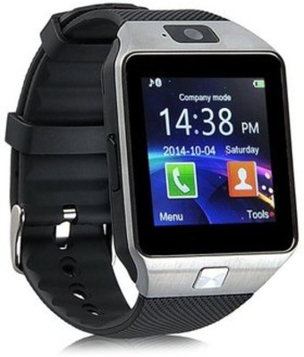 Timen TM09 Silver Black Smartwatch (Black Strap)
