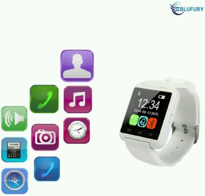 ZOON U8 White Smartwatch (White Strap)