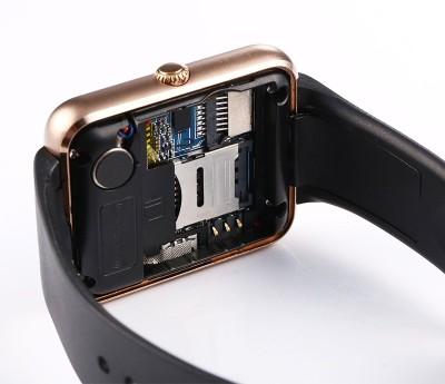 Bingo T50 Gold Mobile Single Sim Slot Smartwatch (Black Strap)