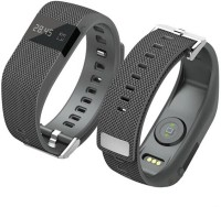 Flipfit Fitness Band HEART RATE MONITOR BLUETOOTH CALL NOTIFICATION 3D Pedometer Temperature Calorie Monitor Band Tracker Smartwatch (Black)