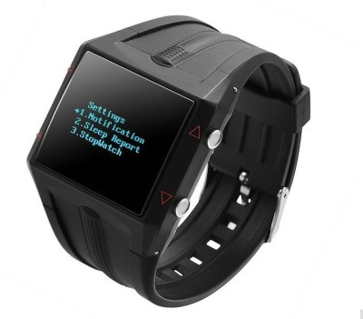 Maya Smart Watch with Heart Rate and Waterproof Smartwatch (Black Strap)