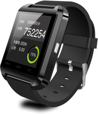 Aberdeen V18 Black Smartwatch (Black Strap)