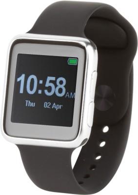 Arya uWear SW01 Smartwatch (Black, Silver Strap)