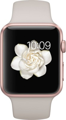Apple Watch Sport 42 mm Rose Gold Aluminium Case with Stone Sport Band Stone Sport Smartwatch (White Strap)
