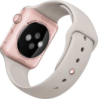 Apple Watch Sport Rose gold Aluminium case stone sport Band 42mm