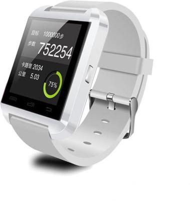Zigmo White-U80 White Smartwatch (White Strap)