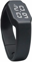 FLIPFIT Fitness BanD 3D PeDometer Sleep Temperature Calorie Monitor Time Display Silicon Without SpeeDometer Smartwatch (Black)