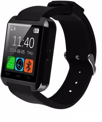 Zigmo U8 Smart Watch Black Smartwatch (Black Strap)
