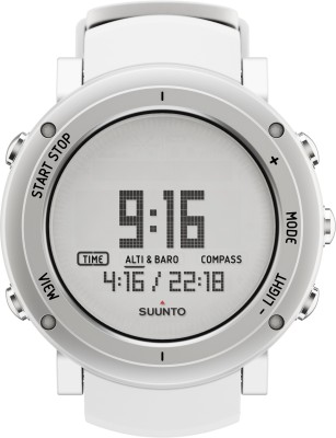 Suunto SS018735000 Core Digital Pure White Smartwatch (White Strap)