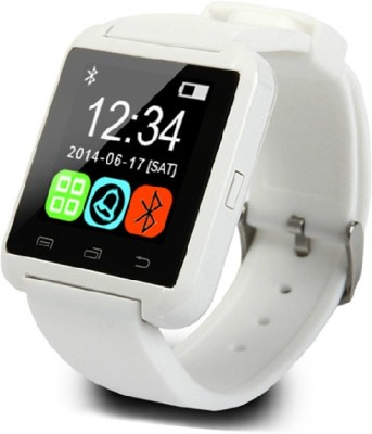 Shan U8 Bluetooth Smartwatch (White Strap)