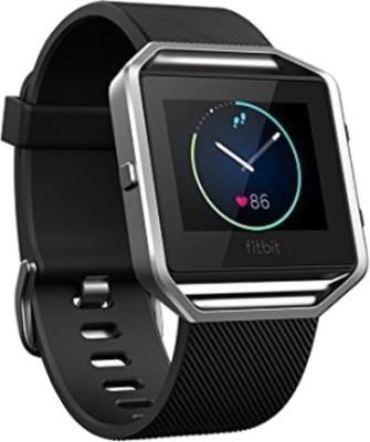Fitbit Blaze Black Silver Smartwatch (Black Strap L)