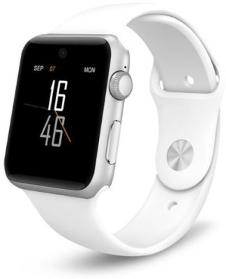 Being Trendy AP01 with SIM card slot, 32Gb Memory card slot and Fitness Tracker Smartwatch (White Strap)