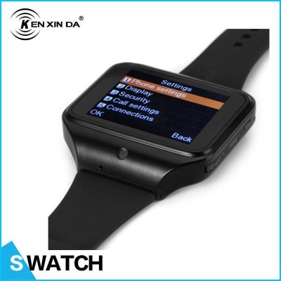 Kenxinda Gsm Sim With Bluetooth Smartwatch (Black Strap Free Size)