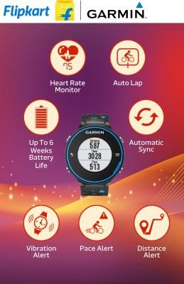 Garmin Forerunner 620 GPS with HRM Smartwatch (Blue, Black Strap)