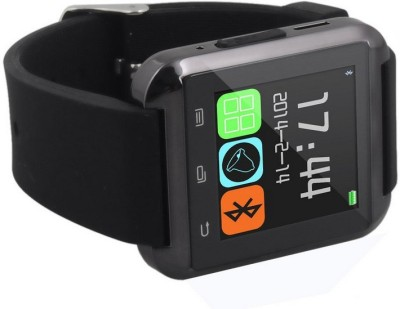 S-Uni U8 Bluetooth for android and IOS Black Smartwatch (Black Strap)