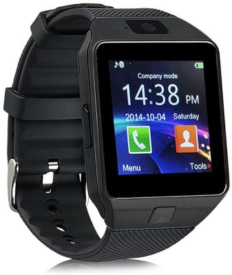 Influx ® DZ09 SIM Card Mobile Phone Memory Card Support Black Smartwatch (Black Strap Free)