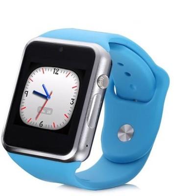 General AUX Touch Screen, SIM Card Slot Smartwatch (Blue Strap)