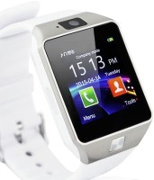 KMS With Sim, Memorycard Slot, Bluetooth And Fitness Tracker Silver Smartwatch (White Strap)