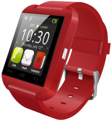 Outsmart with Bluetooth and Fitness Tracker Smartwatch (Red Strap)