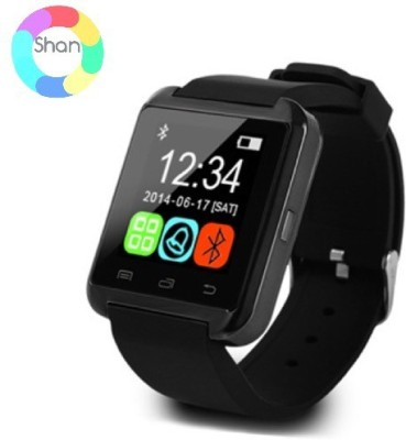 Shan U8 Bluetooth Smartwatch (Black Strap)