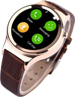 Bingo T20 Gold 2016 Model Stylish Round Dial Smart Watch (touch Screen) Bluetooth Wrist Watch Support Micro SIM Card TF Card Compatible With Android And IOS Smartwatch (Brown)
