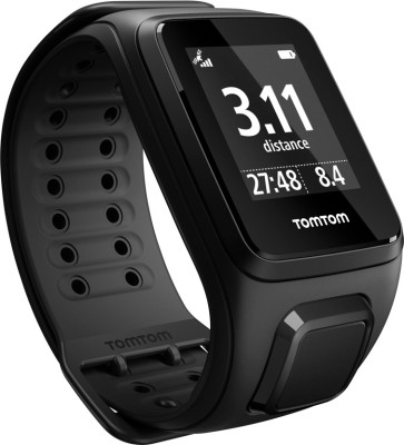 TomTom Spark Music + Headphones Black Smartwatch ((Black, Large))