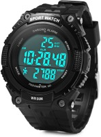 Flipfit PeDometer  Waterproof Sports Multifunction LeD Digital 3D PeDometer Military With Alarm Without SpeeDometer Smartwatch (Black)